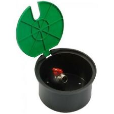 "Round Irrigation Hydrant Water Valve Box with built-in 3/4"" Valve with Green lid"