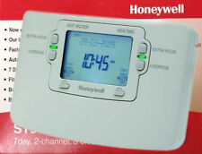 HONEYWELL ST9400C1000 7 DAY 2 CHANNEL PROGRAMMER TIMER CLOCK REPLACES ST6400C