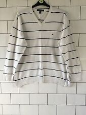 Homme années 90 blanc tommy hilfiger urbain rétro vintage grosses mailles pull pullover