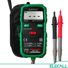 ELECALL - Non-Contact Mini Digital Multimeter DC AC Voltage Current Tester EM33A