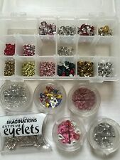 6+ Pkgs Shapped Eyelets Heart Flower Squares Making Memories Scrapbook Accent