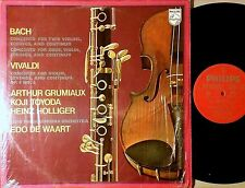 NM vinyl LP Bach Concerto for 2 Violins Vivaldi Grumiaux Toyoda Philips, tested!