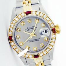 Rolex Ladies 2Tone 14K Gold/ Stainless Steel, Diam Dial & Diam/Ruby ... Lot 5504
