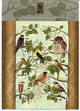 Liechtenstein 2011 Scott 1525, WWF Birds Sheet of 8, NH