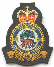 RAF No.230 Squadron Official Crest Royal Air Force Embroidered Patch