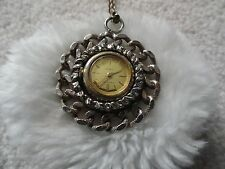 Louvic 17 Jewels Wind Up Necklace Pendant Watch