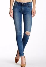 NWT JOE'S Sz24 THE SKINNY ROLLED ANKLE MIDRISE STRETCH JEANS DISTRESSED BECKY
