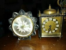 LOT OF 2 GERMAN ALARM CLOCKS. PHINNEY-WALKER+ A BLESSING.. SELLING FOR PARTS
