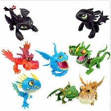 8pcs Cartoon Movie How To Train Your Dragon Mini Figure Kids Toys Dolls Cute Set