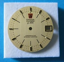 Rare OMEGA 1970s f.300 Chronometer SOLID 18ct GOLD Mens Wristwatch Dial MINT