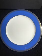 VERSACE PLATE Blue gold Greek Key ROSENTHAL NEW RETAIL $200 SALE