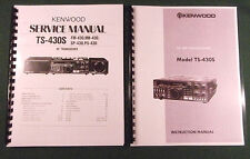 Kenwood TS-430S Instruction & Service Manuals:  Card Stock Covers & 32 LB Paper!