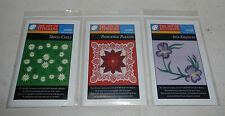 Lot of 3 Joy of Stitching Flowers Design Suite Disks for Pfaff 7570 Embroidery