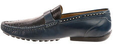 Mezlan SPAINISH Calfskin Loafers 9 US 42 EU Perforated-Look Mixed Media FREE SHP