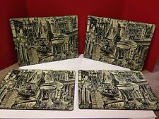 New York City Cork Placemats Table Mats Set of 4 Statue Liberty, Public Library