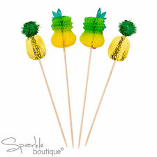 Tropical PINEAPPLE CAKE TOPPERS - Canapé Picks/Decorations - Summer BBQ/Party