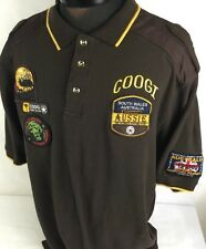 Coogi Australia Polo Shirt Hunt Club Aussie Hunter Valley Embroidered Brown 2XL
