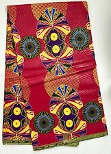 African Fabric, Ankara - Fantastic Dark Pink 'Amazonia,' By the Yard