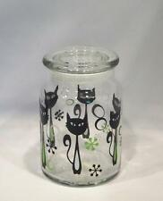 New Libbey Glass Retro Black Cat 31oz Food Storage Jar Canister