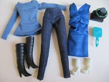 Disney Hannah Montana/Camp Rock MITCHIE DOLL Clothes Jeans/Dress Shoes Boots Lot