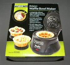 Belgian Waffle Bowl Maker Presto Machine Black 03500