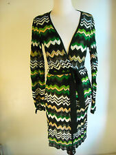 M Missoni Knit Cardigan Sweater Tie Waist Multi Color size 42 6