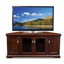 Chocolate Cherry And Bronze Glass 56 Inch Corner Tv Stand Chocolate Cherry