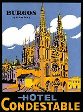 ADVERT TRAVEL CATHEDRAL HOTEL CONDESTABLE BURGOS SPAIN ESPANA POSTER PRINT LV281