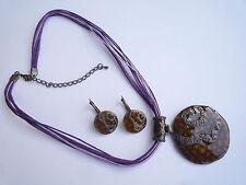 Schmuckset Halskette Metall Anhänger Ohrhänger Ohrring 42 - 50 cm Nickelfrei