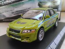 Fast and Furious Brian's 2002 Mitsubishi Lancer EVO Vll Diecast 1/43 Greenlight