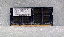 Nanya 1GB RAM  PC2-5300S-555-12-F1 DDR2  SODIMM   Laptop Memory