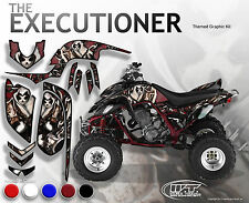"YAMAHA RAPTOR 660 MODEL ""EXECUTIONER"" DARK RED & BLACK GRAPHICS KIT"