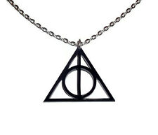 Harry Potter Necklace, Deathly Hallows Symbol, Laser Cut Jewelry