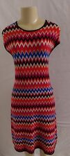NWT EVA MENDES COLLECTION MULTI COLOR ZIG ZAG SLEEVELESS SWEATER DRESS SIZE M