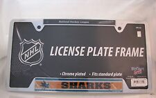 "San Jose Sharks 6""x12"" Metal License Plate Frame"