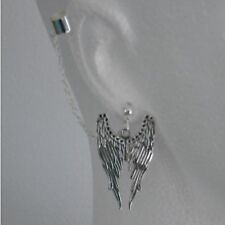 Wings -  Ear Cuff Clip Chain Dangle Piercing  *UK MADE * - *FREE POST*