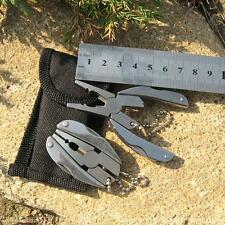Portable Folding Plier Stainless Steel Knife Keychain Screwdriver Survival Tool