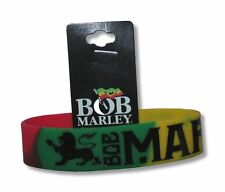 Bob Marley Lion Colorful Rubber Wristband New Official Rasta Reggae Wailers