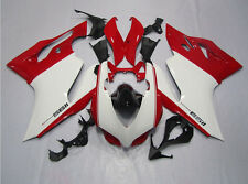 Red W/White Fairing Kit For Ducati 1199 899 Panigale 2012-2014 2013 Injection