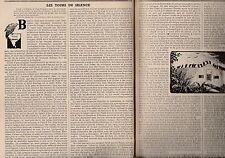 Coupure de presse Les tours du silence Inde récit de voyage René R. J. Rohr 1955