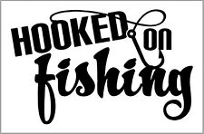 HOOKED ON FISHING CAR DECAL - WINDOW BODY - BOATS & SEAT BOXES - CARP FISHING