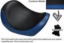 BLACK & ROYAL BLUE CUSTOM FITS HARLEY DAVIDSON V-ROD VRSC 01-09 FRONT SEAT COVER