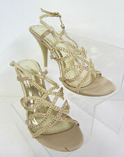 F1749 - Spot On Ladies Sandals *SALE* Champagne, Black, Silver Strappy