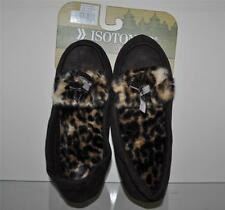 Isotoner Woodland Womens Slippers 03576CHOMD Cheetah Print/Brown Med 6.5-7.5 NWT
