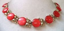 """STUNNING VINTAGE ESTATE RED THERMOSET BEADED FLOWER 16 1/2"""" NECKLACE!!! 3702E"""