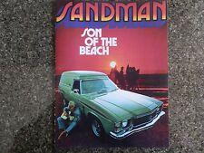 HOLDEN 1976 HJ SANDMAN SALES  BROCHURE ''PLUS BONUS''  100% GUARANTEE.