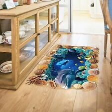 3D Ocean Undersea World Creative Caves Removable Floor Wall Stickers Decor House