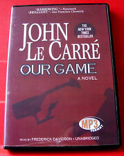 John Le Carre Our Game MP3-CD UNABR.Audio Book Frederick Davidson Spy Thriller