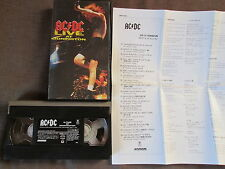 AC/DC Live at Donington JAPAN VHS VIDEO w/PS+INSERT AMVY-8100 Free S&H/P&P