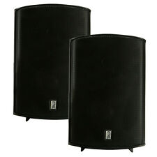 "PolyPlanar Compact Box Speaker - 7-11/16"""" x 5-1/8"""" x 4-11/16"""" - (Pair) Black"